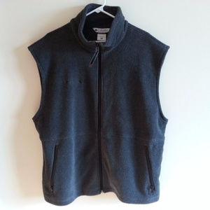 Columbia charcoal full zip fleece vest - mens XL